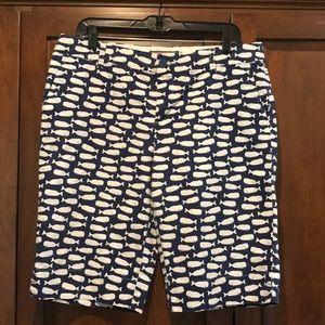 Vineyard vines whale shorts ladies 12 GUC blue